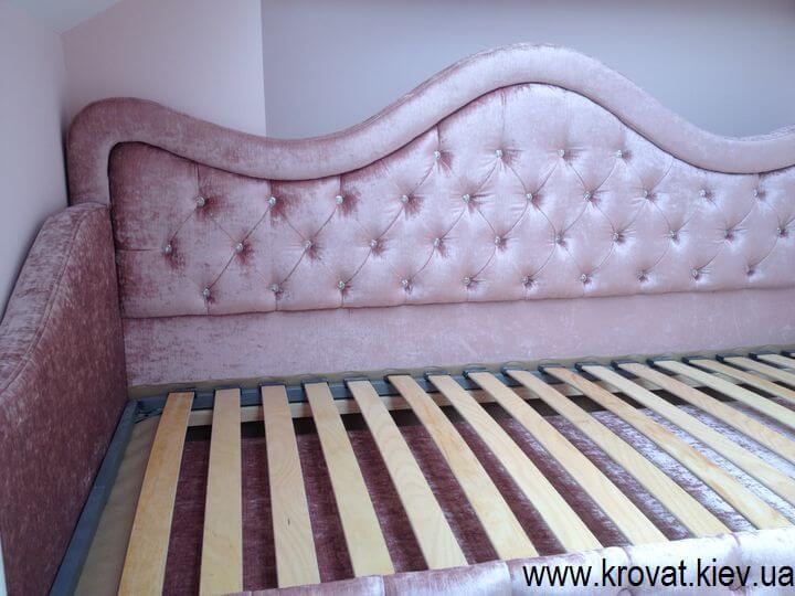 кровать для девочки в интерьере на заказ