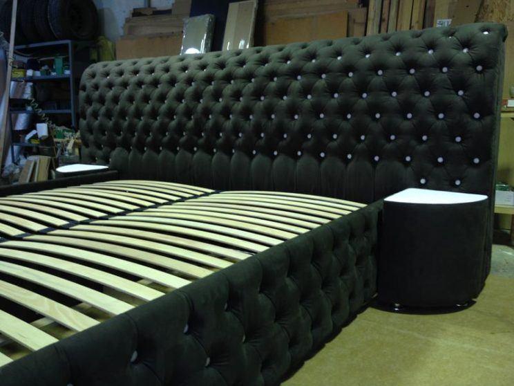широкая кровать для спальни на заказ