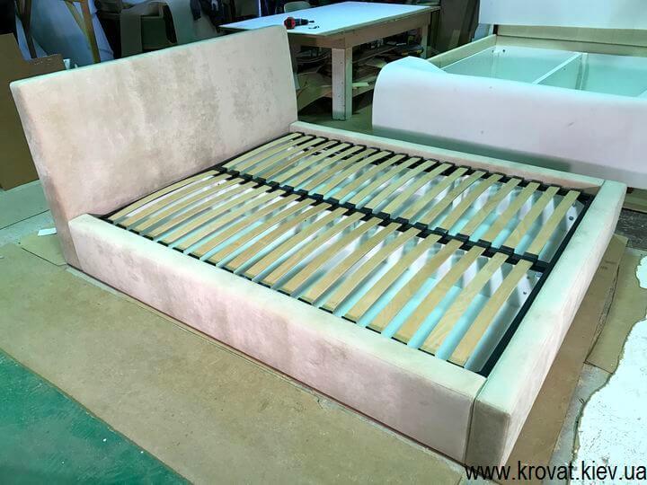 кровати с мягкими изголовьями с подъемным механизмом