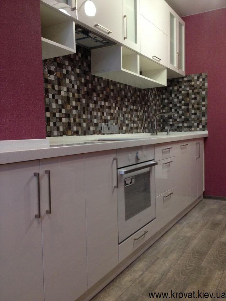 кухня с фасадами мдф покраска на заказ