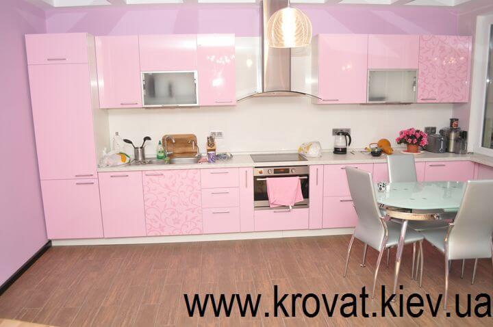 розовая кухня