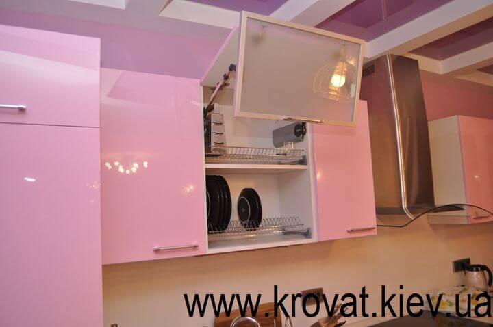 розовая кухня на заказ в Киеве
