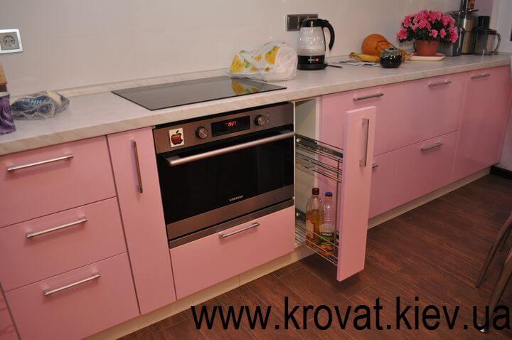 розовая кухня с карго
