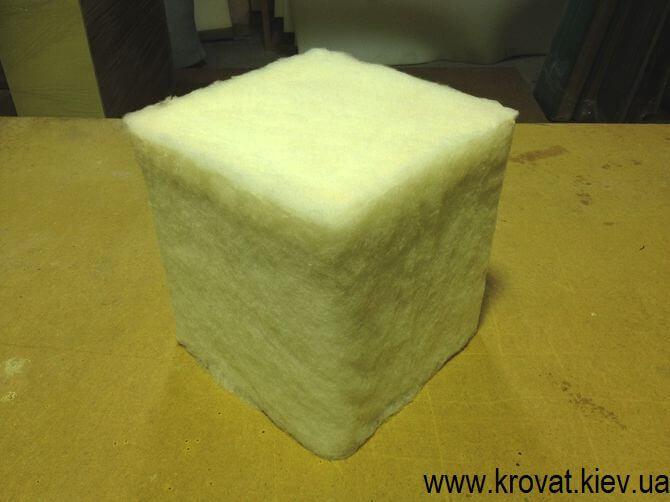 как сделать квадратный пуф самостоятельно