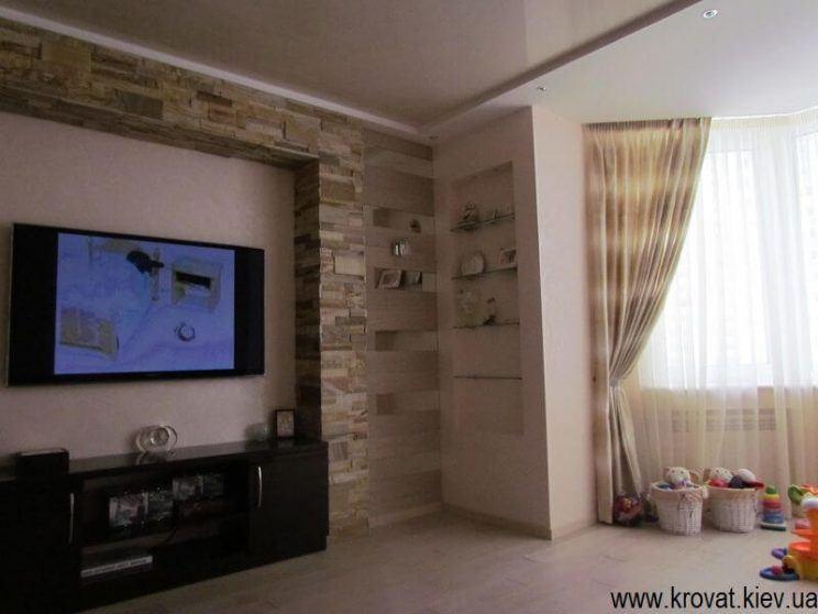 меблі в інтер'єрі вітальні на замовлення