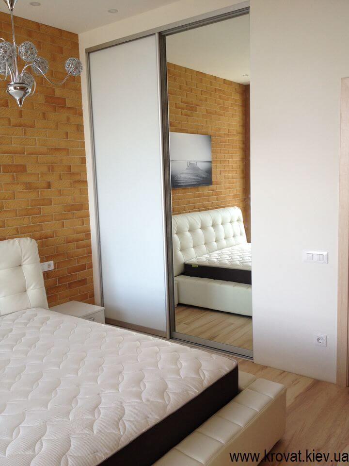 Встроенный шкаф купе для спальни