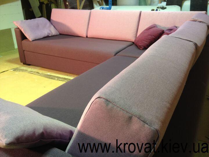 мягкий угловой диван для гостиной