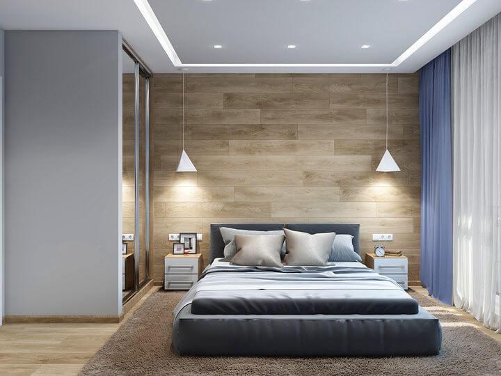 3d проект современной спальни