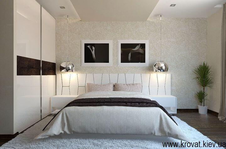 дизайн спальни 3d с кроватью