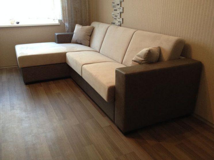 диван в интерьере угловой