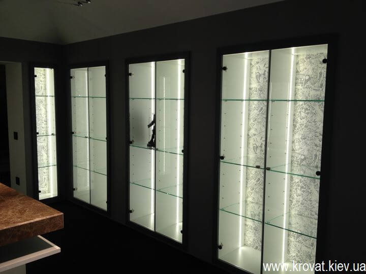 шкафы витрина на заказ