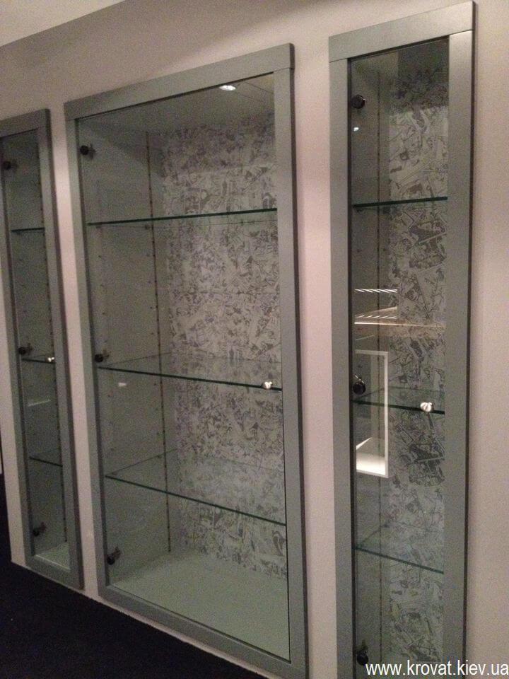 стеклянный шкаф на заказ