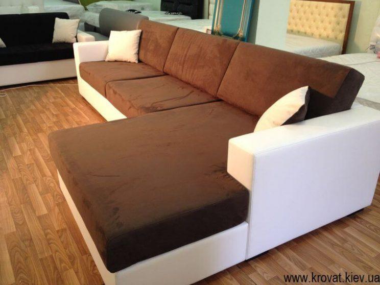двоколірний диван