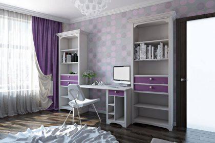 письменный стол в спальню для девочки 3d