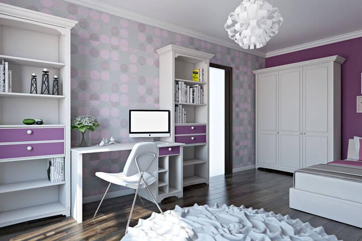 мебель в спальню для девочки подростка 3d