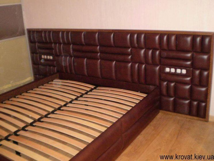 шкіряне ліжко в спальню на замовлення