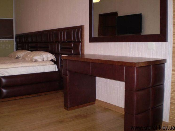 мебель в спальню из кожи на заказ