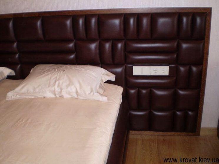 мебель для спальни из кожи на заказ