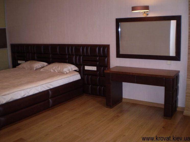 кожаная мебель в спальню на заказ