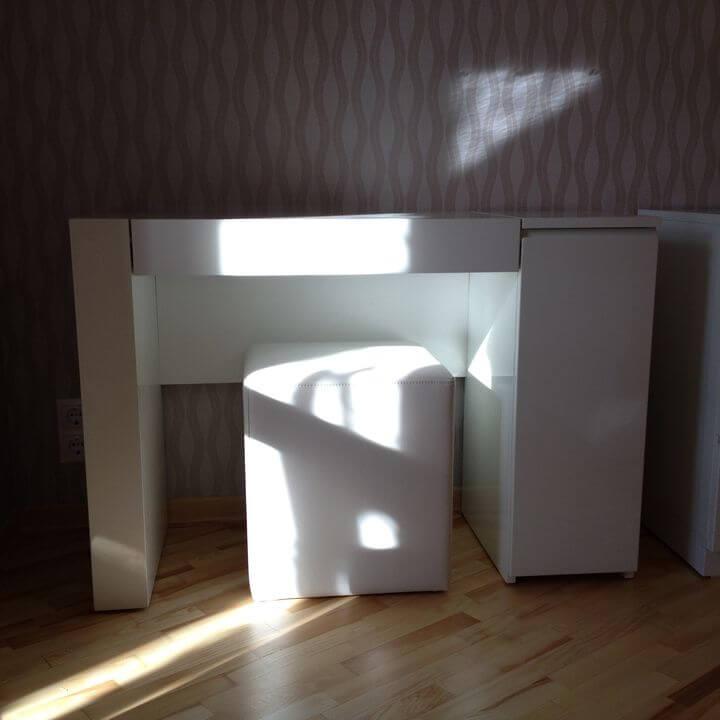 белый туалетный столик на заказ