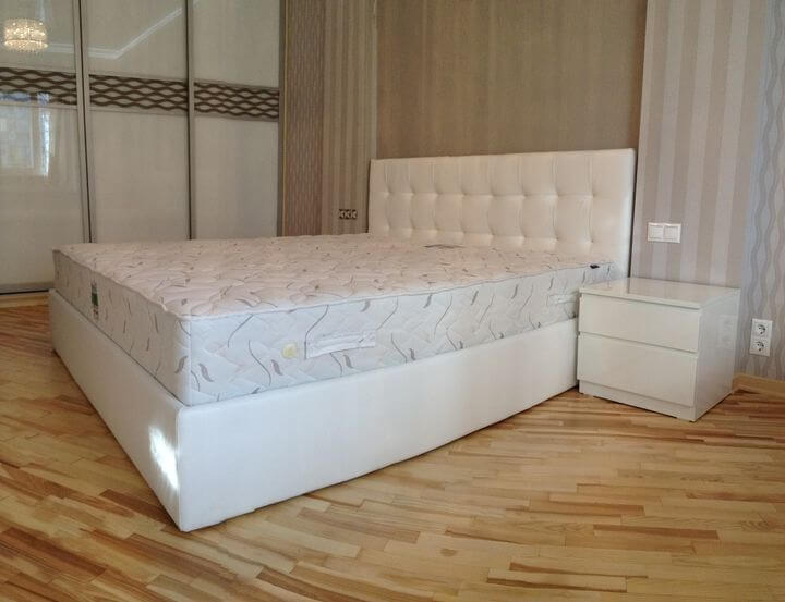 интерьер белой спальни на заказ