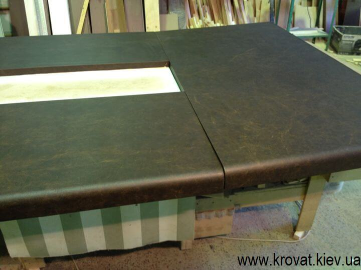 производство столешни из кожи на заказ