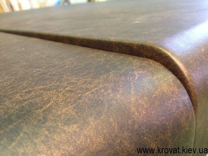изготовление столешницы из кожи на заказ