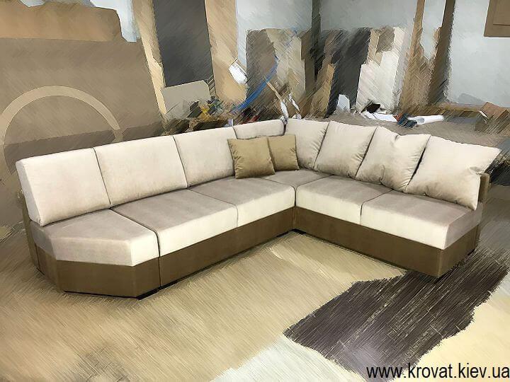 изготовление угловых диванов без подлокотников на заказ