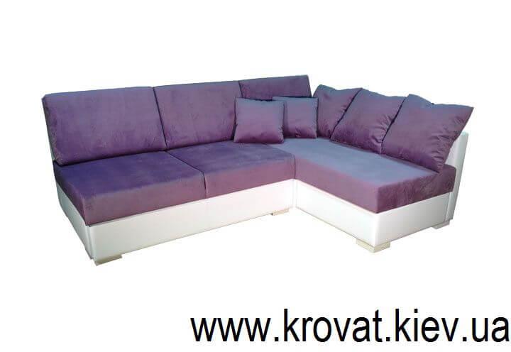 кутовий диван без підлокітників