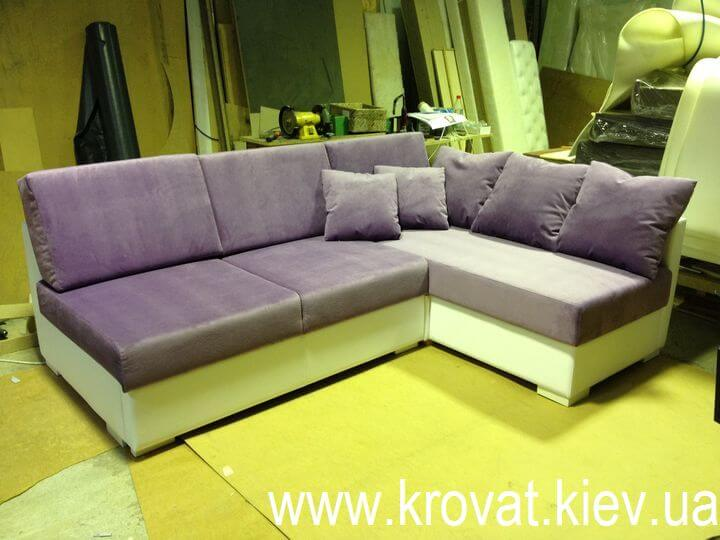 угловой диван без боковин