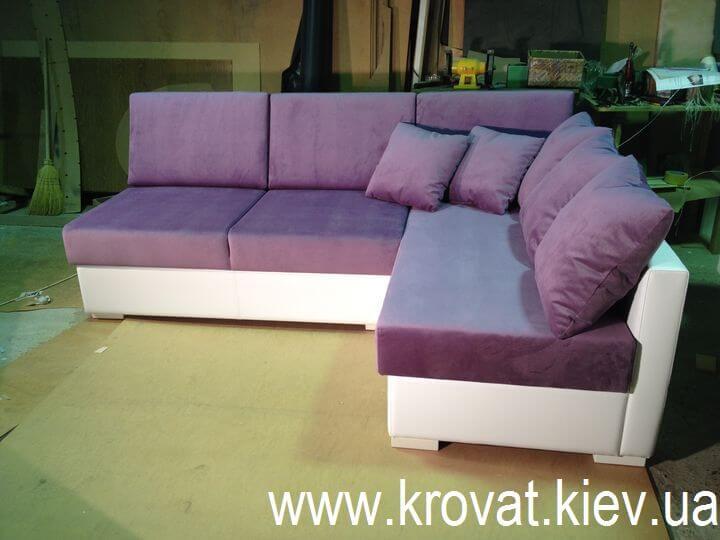 диван без підлокітників
