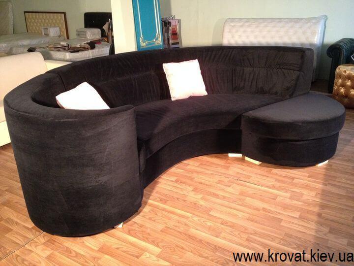 чорний диван на замовлення
