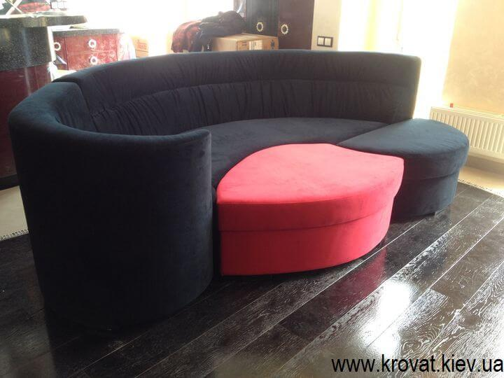 дизайн радиусного дивана