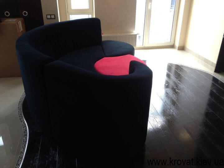 дизайн напівкруглого дивана