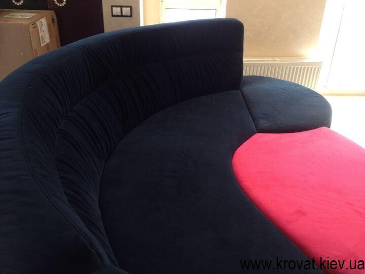 дизайн овального дивана