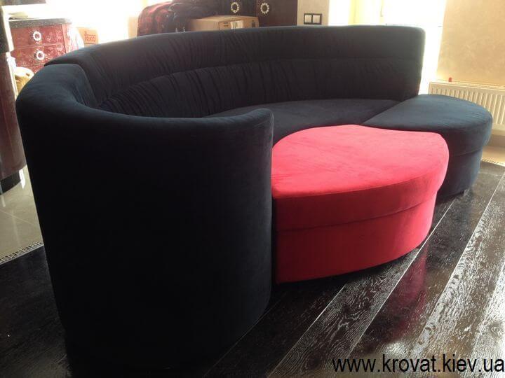 дизайн радіусного дивана