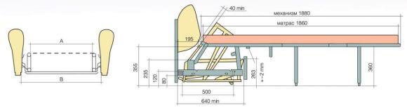 розкладний механізм мералат для дивана