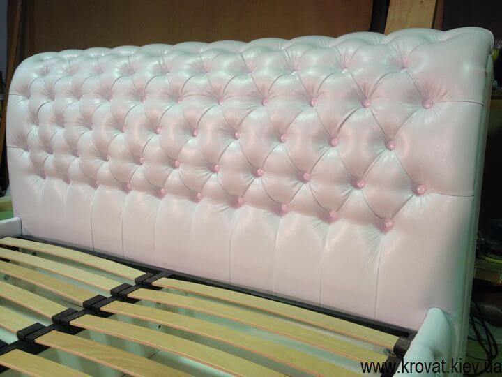 Кровать с капитоне на заказ