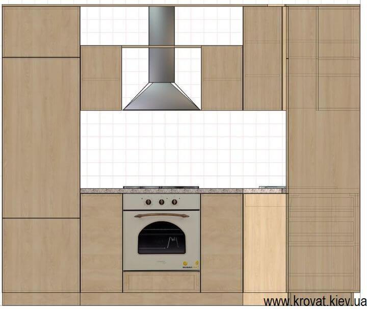 креслення кухні в класичному стилі