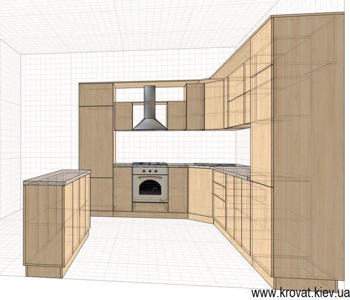 эскиз кухни в классическом стиле