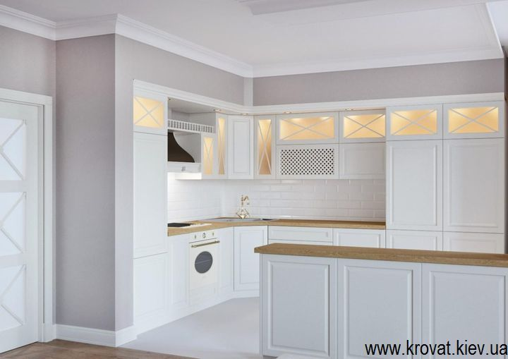 проект 3D кухні в класичному стилі