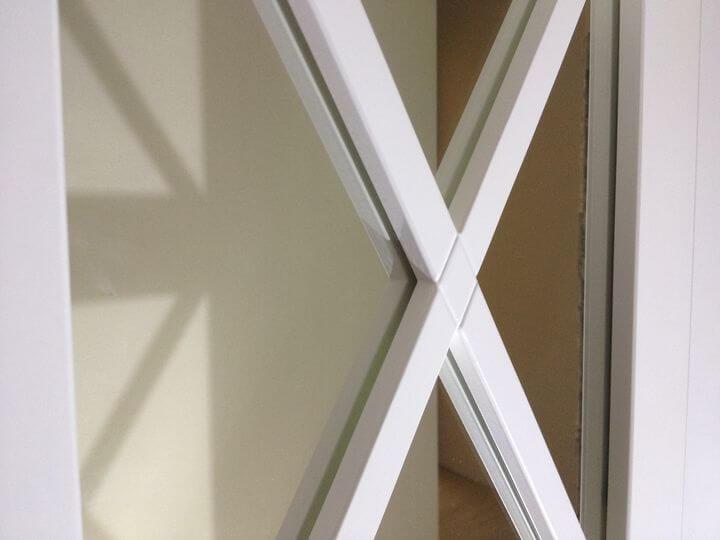 фасады из дерева с зеркалом