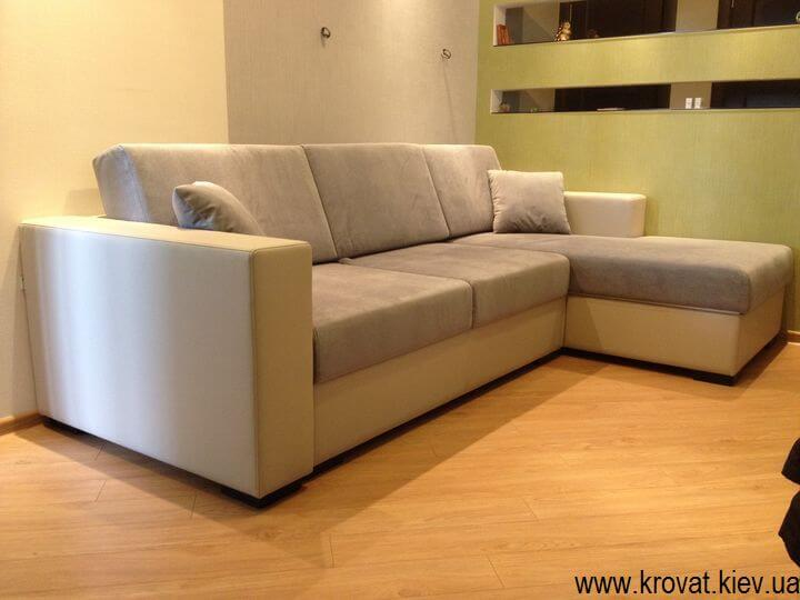 угловой диван в кухню студию