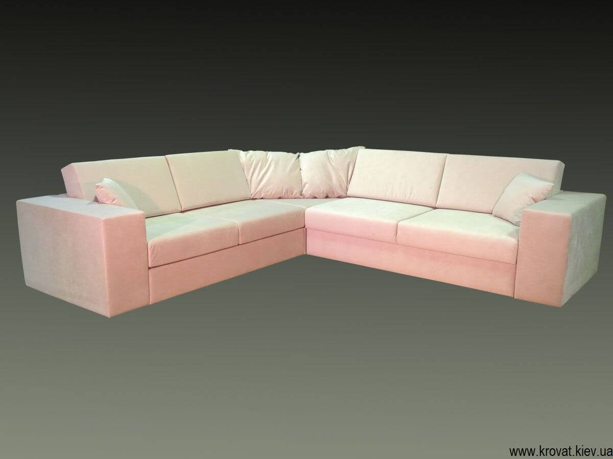 Угловой диван с обрезанным углом