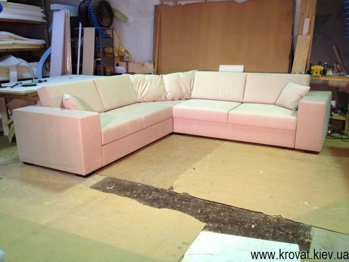 Угловой диван обрезанный угол