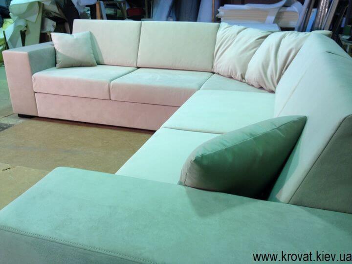 нестандартний кутовий диван