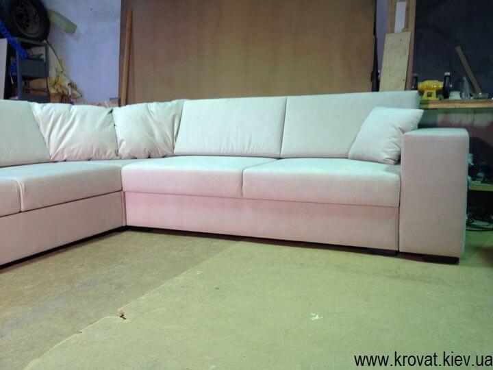 Угловой диван обрезанный угол на заказ