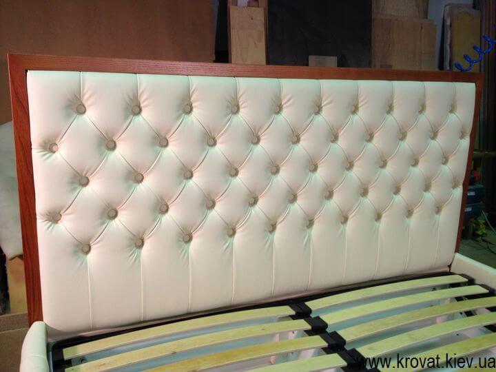 2 x спальне ліжко з каретною стяжкою
