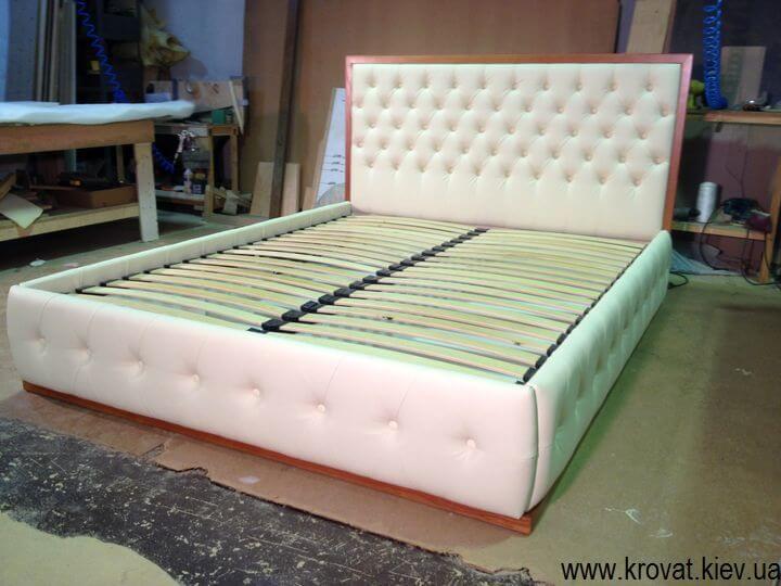 2 x спальне ліжко з капітоне