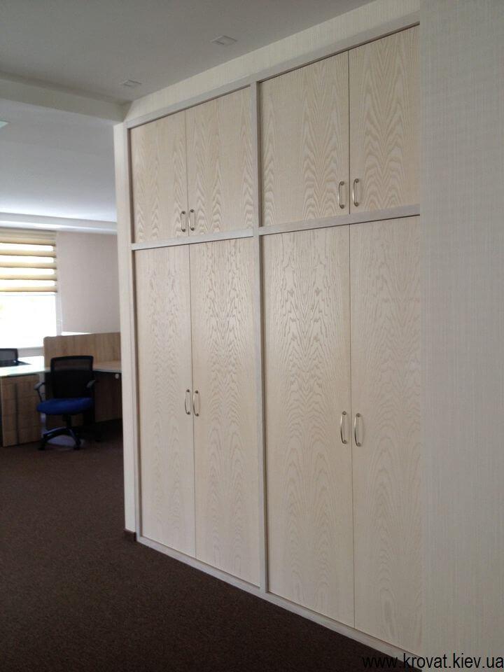 изготовление шкафов из шпона